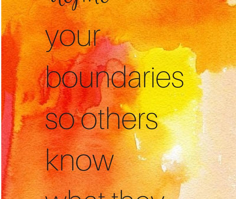 My Boundaries, My Responsibility